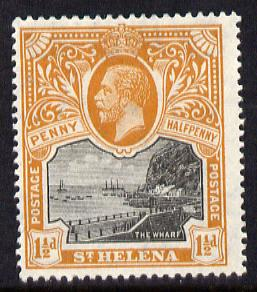 St Helena 1912-16 KG5 Pictorial 1.5d black & dull orange mounted mint SG74