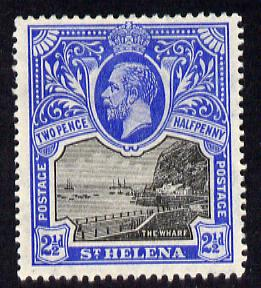 St Helena 1912-16 KG5 Pictorial 2.5d black & bright-blue mounted mint SG76