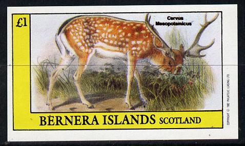 Bernera 1982 Deer imperf souvenir sheet (�1 value) unmounted mint