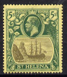 St Helena 1922-37 KG5 Badge MCA 5s mounted mint SG 95