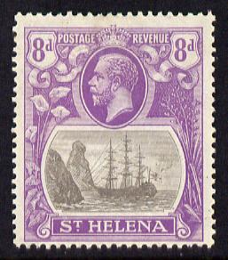 St Helena 1922-37 KG5 Badge Script 8d mounted mint SG 105