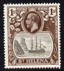St Helena 1922-37 KG5 Badge Script 1s mounted mint SG 106