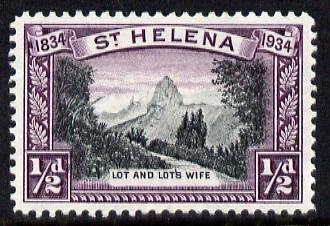 St Helena 1934 KG5 Centenary 1/2d mounted mint SG 114