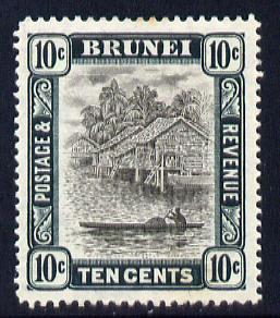 Brunei 1907-10 River Scene MCA 10c grey-black & deep green mounted mint SG 29