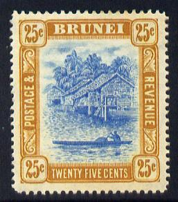 Brunei 1907-10 River Scene MCA 25c pale blue & ochre-brown mounted mint SG 30