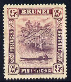 Brunei 1908-22 River Scene MCA 25c dull purple mounted mint SG 43a