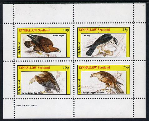 Eynhallow 1982 Birds of Prey #02 (Golden Eagle, Hobby, etc) perf  set of 4 values (10p to 75p) unmounted mint