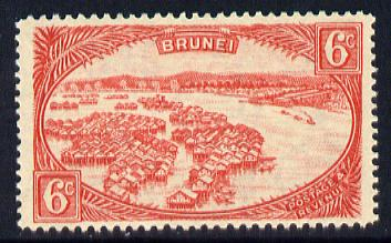Brunei 1924-37 Water Village Script CA 6c scarlet unmounted mint SG 70