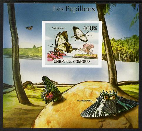 Comoro Islands 2011 Butterflies #6 imperf m/sheet unmounted mint. Note this item is privately produced and is offered purely on its thematic appeal, it has no postal validity