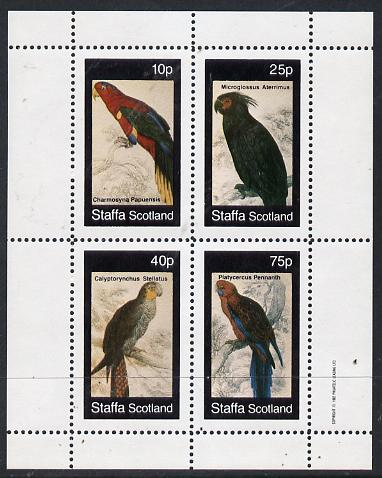 Staffa 1982 Parrots #02 perf  set of 4 values (10p to 75p) unmounted mint