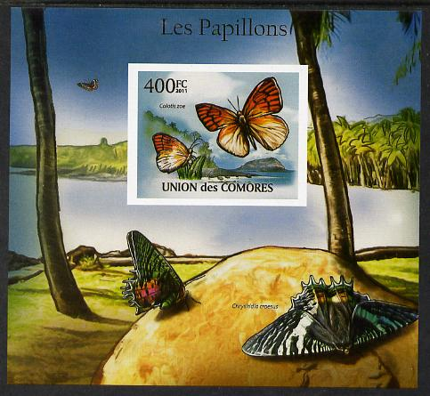 Comoro Islands 2011 Butterflies #8 imperf m/sheet unmounted mint. Note this item is privately produced and is offered purely on its thematic appeal, it has no postal validity