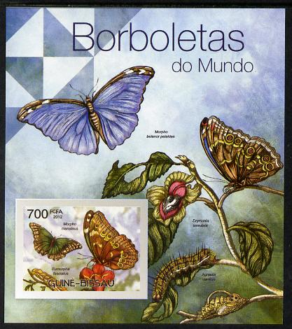Guinea - Bissau 2012 Butterflies #2 imperf m/sheet unmounted mint. Note this item is privately produced and is offered purely on its thematic appeal