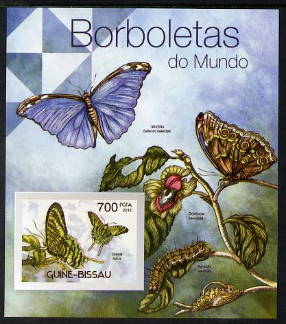 Guinea - Bissau 2012 Butterflies #3 imperf m/sheet unmounted mint. Note this item is privately produced and is offered purely on its thematic appeal