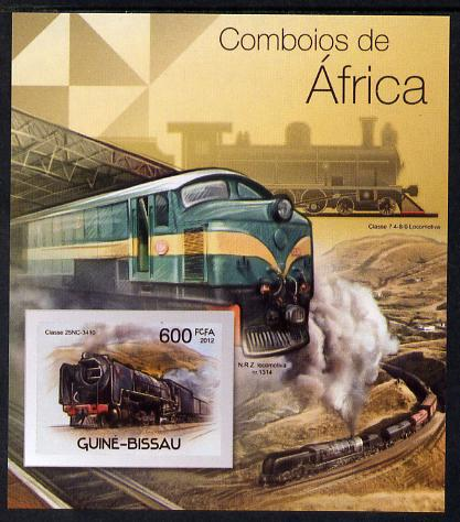 Guinea - Bissau 2012 Railways of Africa #1 imperf m/sheet unmounted mint. Note this item is privately produced and is offered purely on its thematic appeal