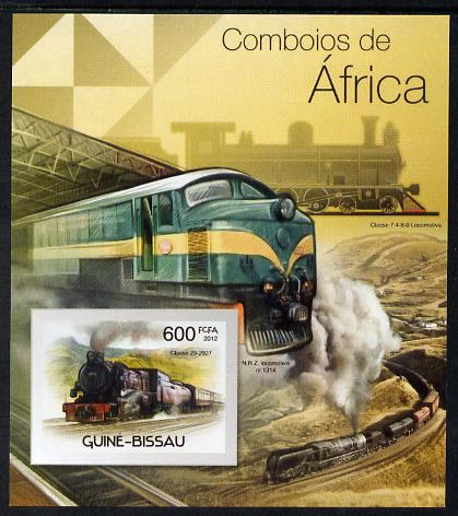 Guinea - Bissau 2012 Railways of Africa #3 imperf m/sheet unmounted mint. Note this item is privately produced and is offered purely on its thematic appeal