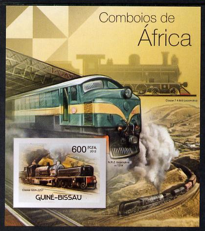 Guinea - Bissau 2012 Railways of Africa #4 imperf m/sheet unmounted mint. Note this item is privately produced and is offered purely on its thematic appeal