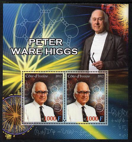 Ivory Coast 2012 Peter Ware Higgs perf sheetlet containing 2 values unmounted mint