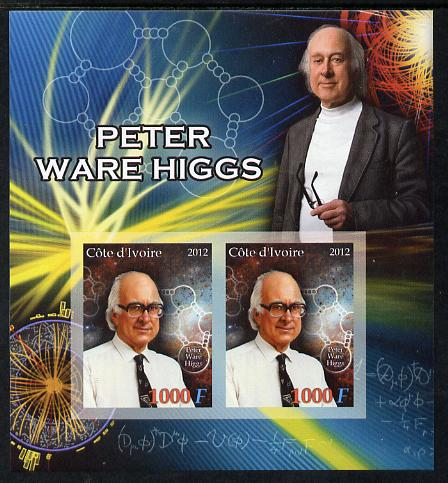 Ivory Coast 2012 Peter Ware Higgs imperf sheetlet containing 2 values unmounted mint