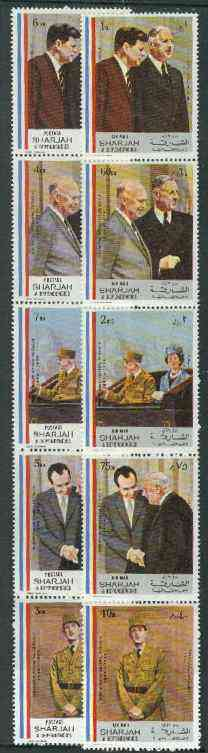 Sharjah 1972 Charles de Gaulle set of 10 unmounted mint, Mi 814-23A)
