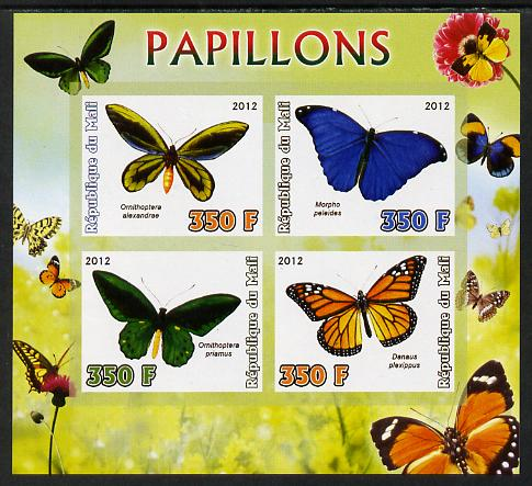 Mali 2012 Fauna - Butterflies imperf sheetlet containing 4 values unmounted mint