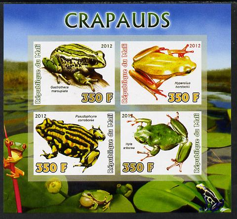 Mali 2012 Fauna - Toads imperf sheetlet containing 4 values unmounted mint