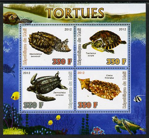 Mali 2012 Fauna - Tortoises perf sheetlet containing 4 values unmounted mint