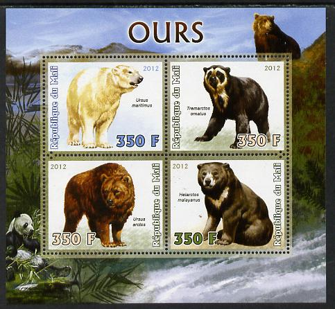 Mali 2012 Fauna - Bears perf sheetlet containing 4 values unmounted mint