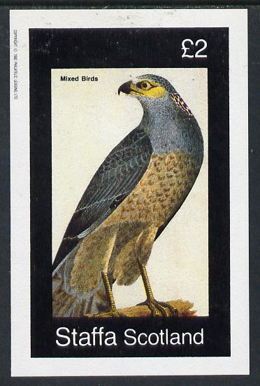 Staffa 1982 Birds of Prey #07 imperf deluxe sheet (�2 value) unmounted mint