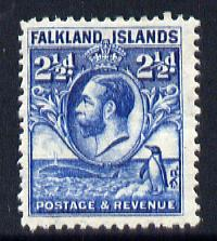 Falkland Islands 1929 Whale & Penguins 2.5d blue mounted mint SG 119
