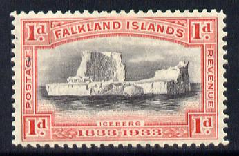 Falkland Islands 1933 Centenary 1d Iceberg mounted mint SG 128
