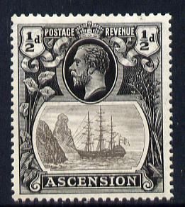 Ascension 1924-33 KG5 Badge 1/2d grey-black & grey mounted mint SG 10