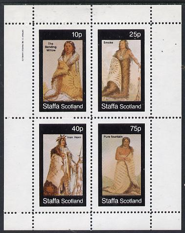 Staffa 1982 N American Indians #07 perf set of 4 values unmounted mint