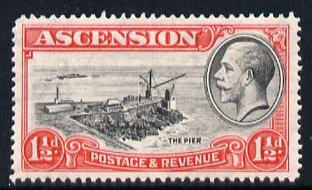 Ascension 1934 KG5 Pictorial 1.5d Pier superb unmounted mint SG 23