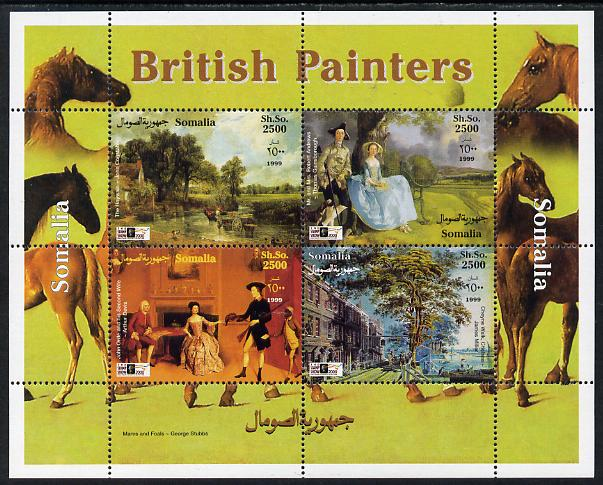 Somalia 1999 British Painters perf sheetlet containing 4 values unmounted mint. Note this item is privately produced and is offered purely on its thematic appeal