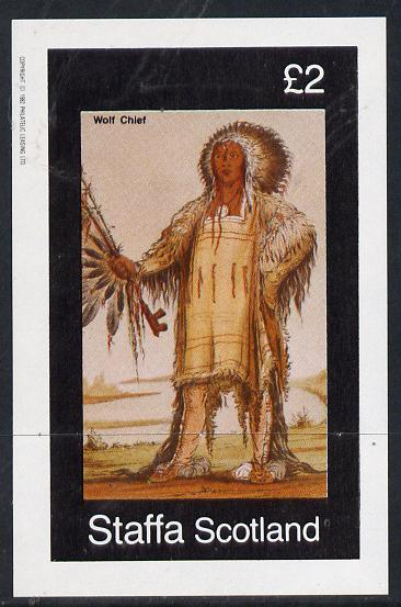 Staffa 1982 N American Indians #07 imperf deluxe sheet unmounted mint (�2 value)