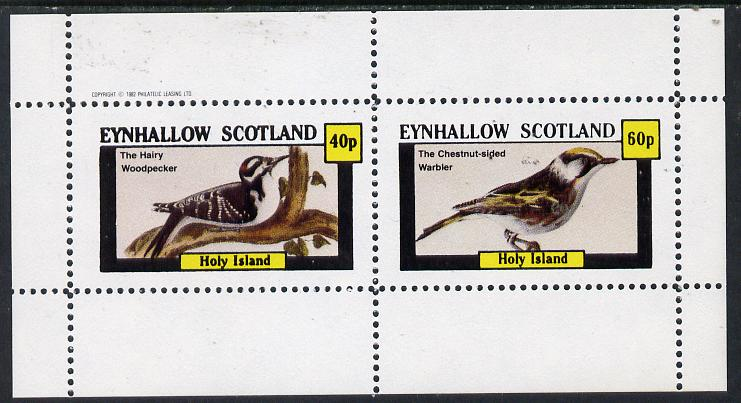 Eynhallow 1982 Birds #10 (Hairy Woodpecker & Warbler) perf  set of 2 values (40p & 60p) unmounted mint
