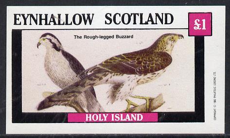 Eynhallow 1982 Buzzard imperf souvenir sheet (�1 value) unmounted mint