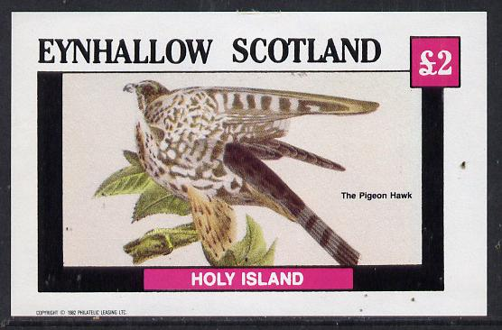 Eynhallow 1982 Pigeon Hawk imperf deluxe sheet (�2 value) unmounted mint