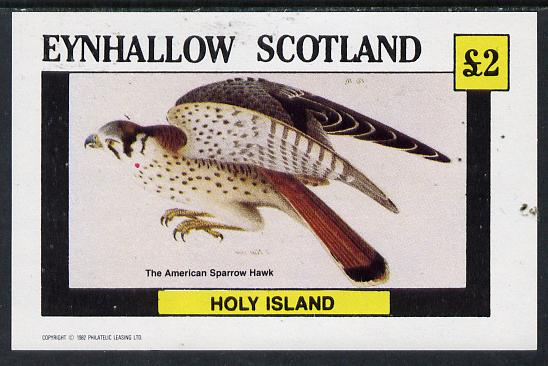 Eynhallow 1982 Sparrow Hawk imperf deluxe sheet (�2 value) unmounted mint