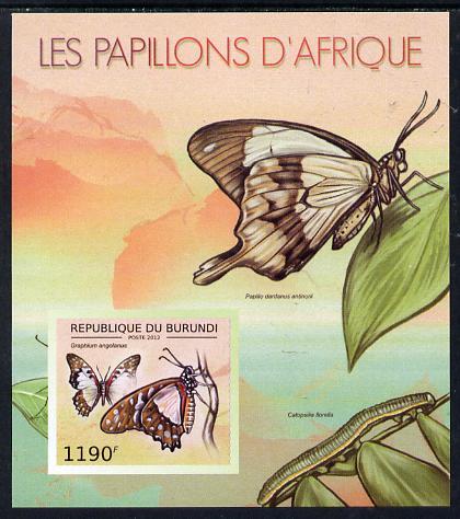Burundi 2012 Butterflies #2 imperf deluxe sheet unmounted mint