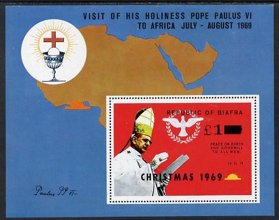 Nigeria - Biafra 1969 Christmas opt