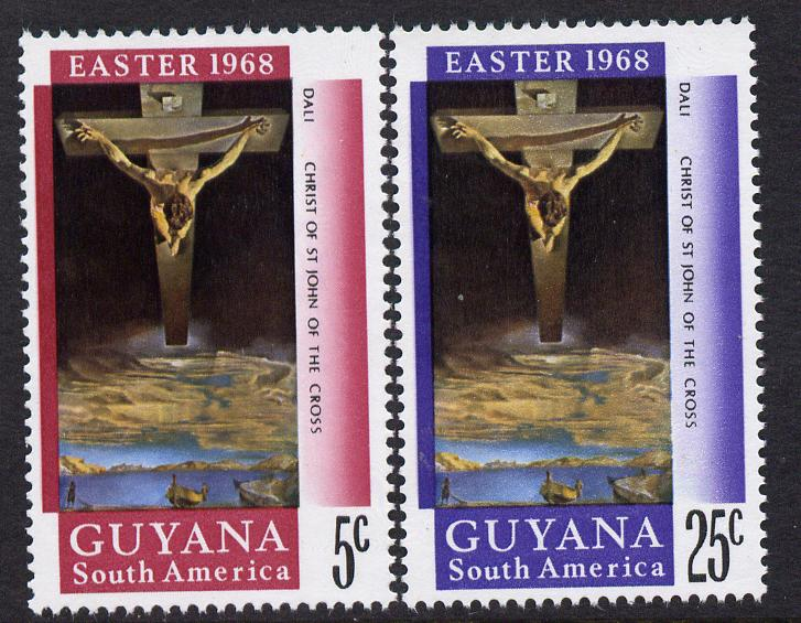 Guyana 1968 Easter perf set of 2 unmounted mint SG463-4
