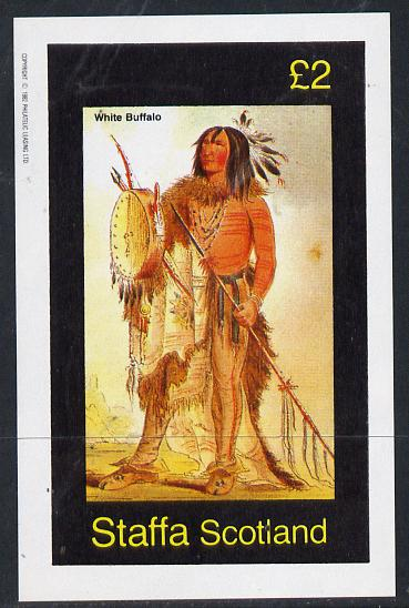 Staffa 1982 N American Indians #08 imperf deluxe sheet unmounted mint (�2 value)