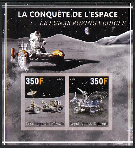 Djibouti 2013 Conquest of Space - The Lunar Rover imperf sheetlet containing 2 values unmounted mint