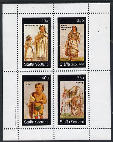 Staffa 1982 N American Indians #09 perf set of 4 values unmounted mint
