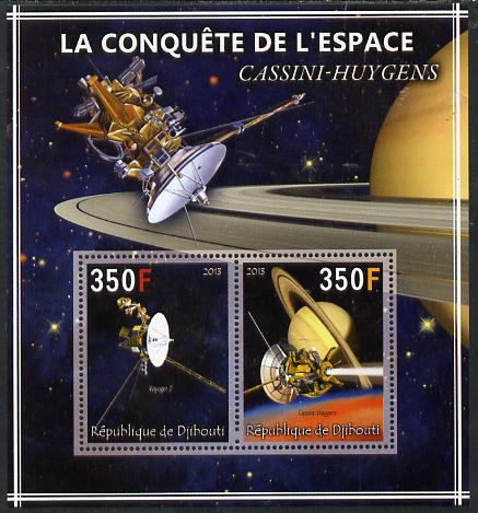 Djibouti 2013 Conquest of Space - Cassini-Huygens to Saturn perf sheetlet containing 2 values unmounted mint