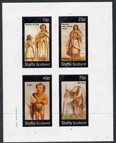Staffa 1982 N American Indians #09 imperf set of 4 values unmounted mint
