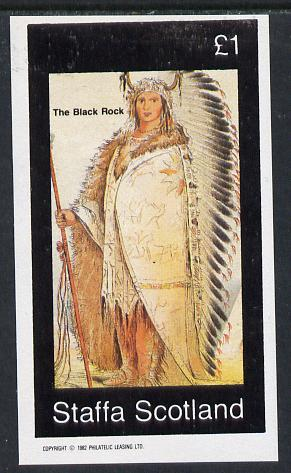 Staffa 1982 N American Indians #09 imperf souvenir sheet unmounted mint (�1 value)