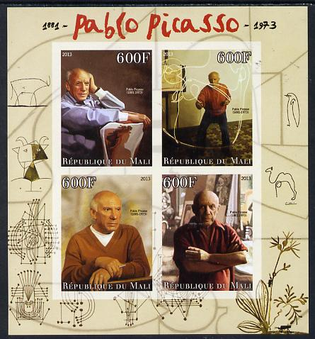 Mali 2013 Pablo Picasso imperf sheetlet containing four values unmounted mint