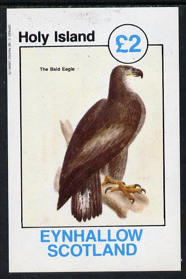 Eynhallow 1982 Bald Eagle imperf deluxe sheet (�2 value) unmounted mint